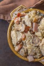 Paleo Chicken and Mushroom Pilaf- A delicious #paleo and #lowcarb meal which requires 1 pot to whip it all up- thebigmansworld.com