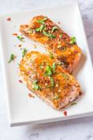 Easy Sweet Chilli Salmon- Take your salmon to the next level with this delicious sweet chilli basting which has the whole recipe ready in under 10 minutes- Gluten and sugar free! @thebigmansworld -thebigmansworld.com