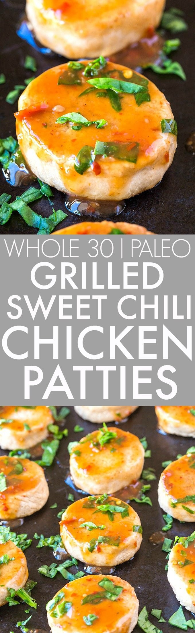 Easy Grilled Sweet Chili Chicken Burgers and Patties (Whole 30, Paleo, GF)- Whole30 friendly sweet chili chicken burgers/sliders/patties which are SO easy and pan fried- Healthy, delicious and freezer friendly! {whole 30, paleo, gluten free}- thebigmansworld.com