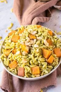 Pesto + Marinated Sweet Potato Salad (Vegan, Gluten Free)