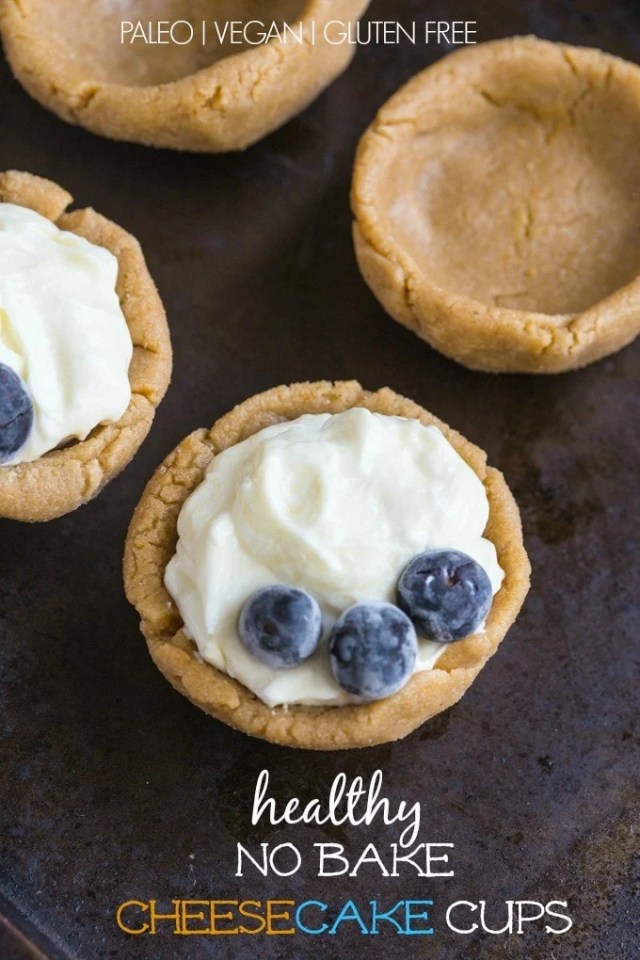 Healthy No Bake Cheesecake Cups- Customisable, easy yet SO impressive! {vegan, gluten free and paleo} @thebigmansworld- thebigmansworld.com