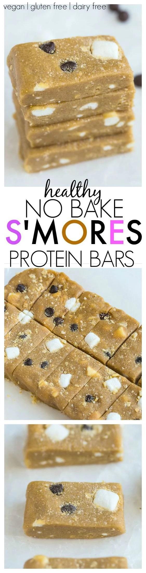 no bake s u0027mores protein bars