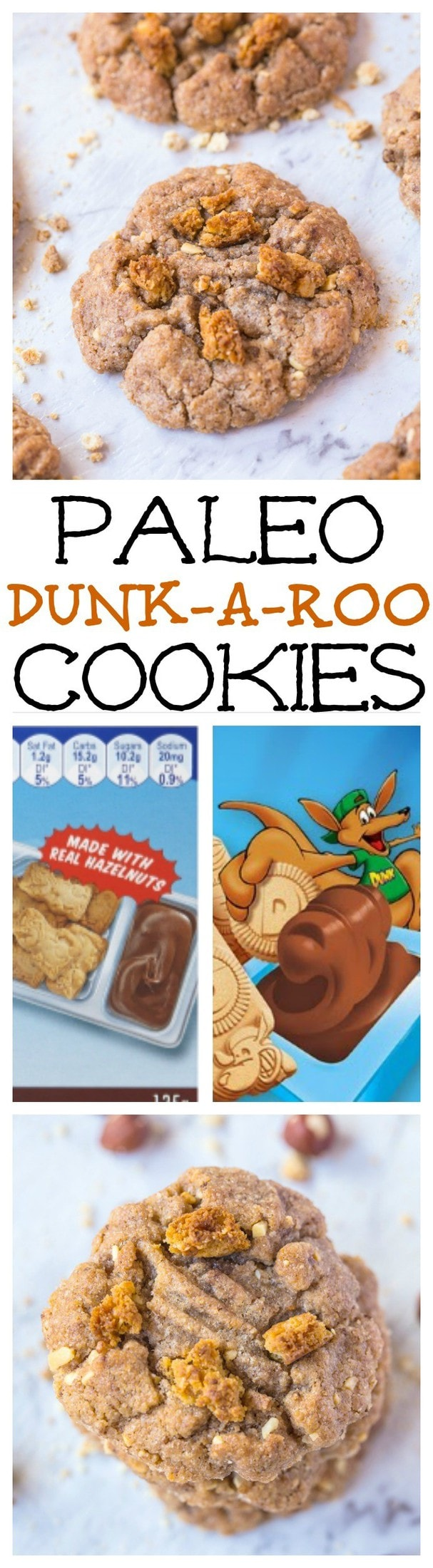 Paleo Dunkaroo Cookies- A childhood treat gets a healthier cookie makeover! Easy and delicious! {vegan, gluten free, grain free}