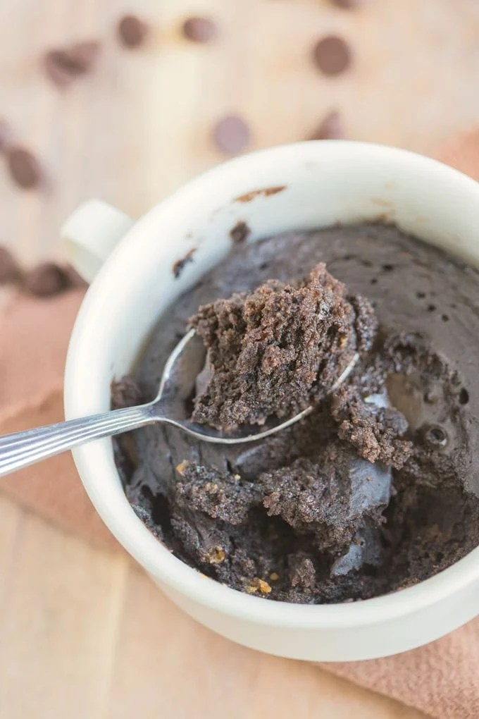 3 Ingredient 1 Minute Chocolate Cake