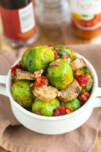 Warm Brussels Sprouts and Chorizo Salad (Paleo, Gluten Free)
