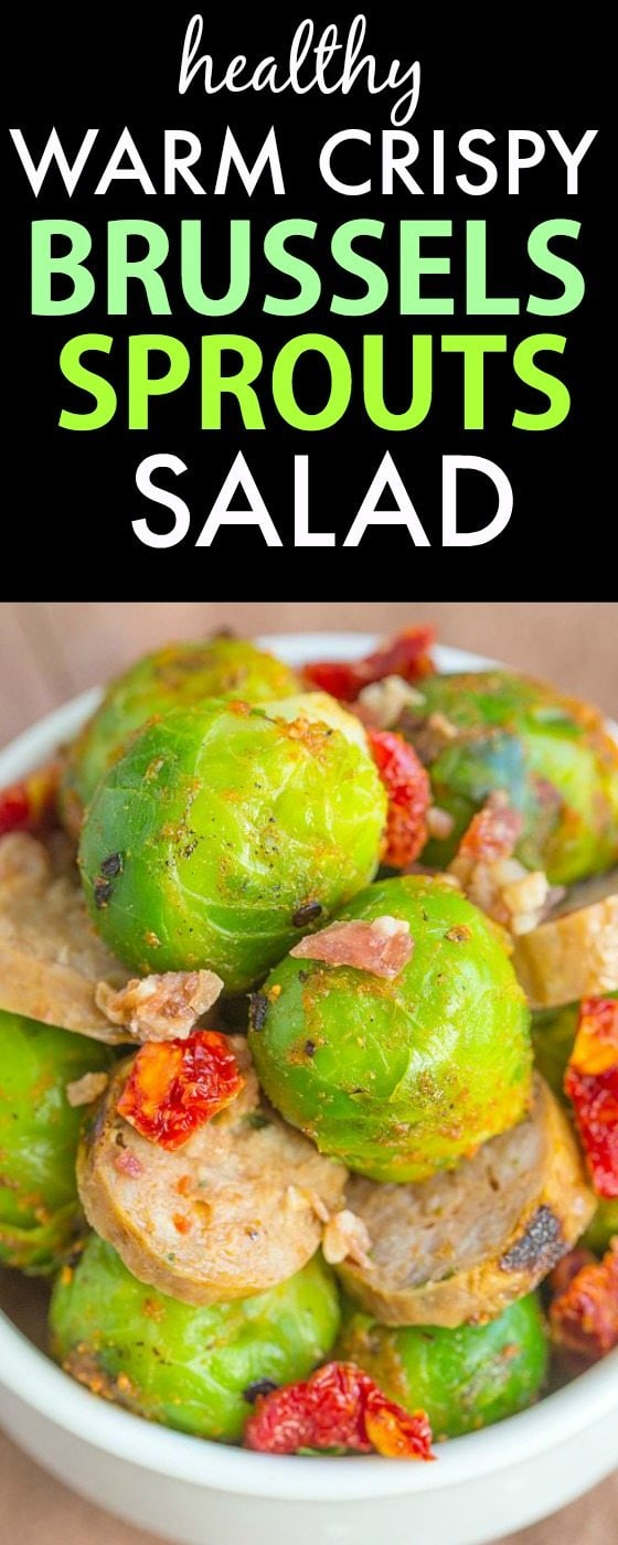 Warm and CRISPY Brussels Sprouts Salad- Seriously ADDICTIVE and the BEST way to enjoy this infamous vegetable- Crispy, delicious and SO moreish! {gluten free, paleo, clean eating recipe}- thebigmansworld.com