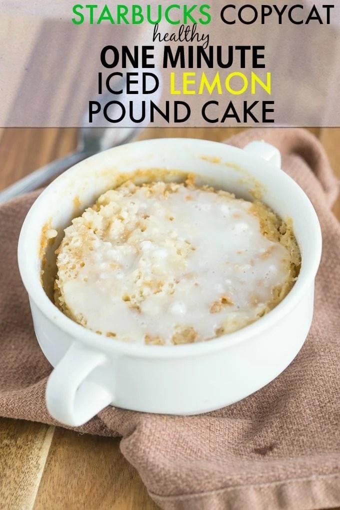 Starbucks Lemon Pound Cake Nutrition