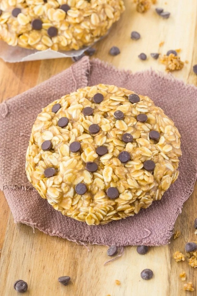 Healthy No Bake Giant Cookie for ONE recipe