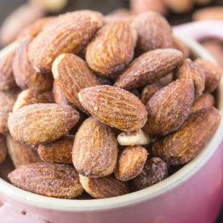 Stovetop Sugar Free Caramelized Almonds (Paleo, Vegan, Gluten Free)