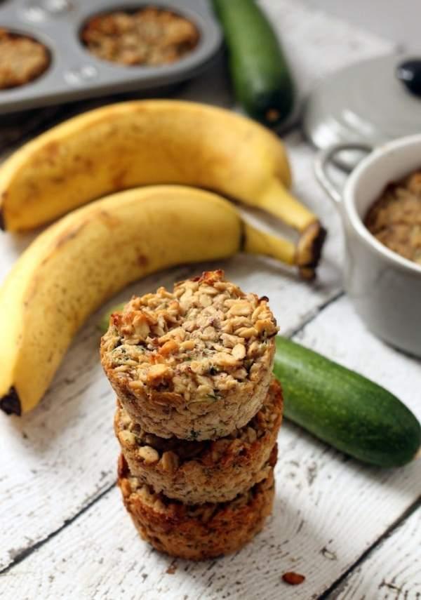 banana zucchini oatmeal cups