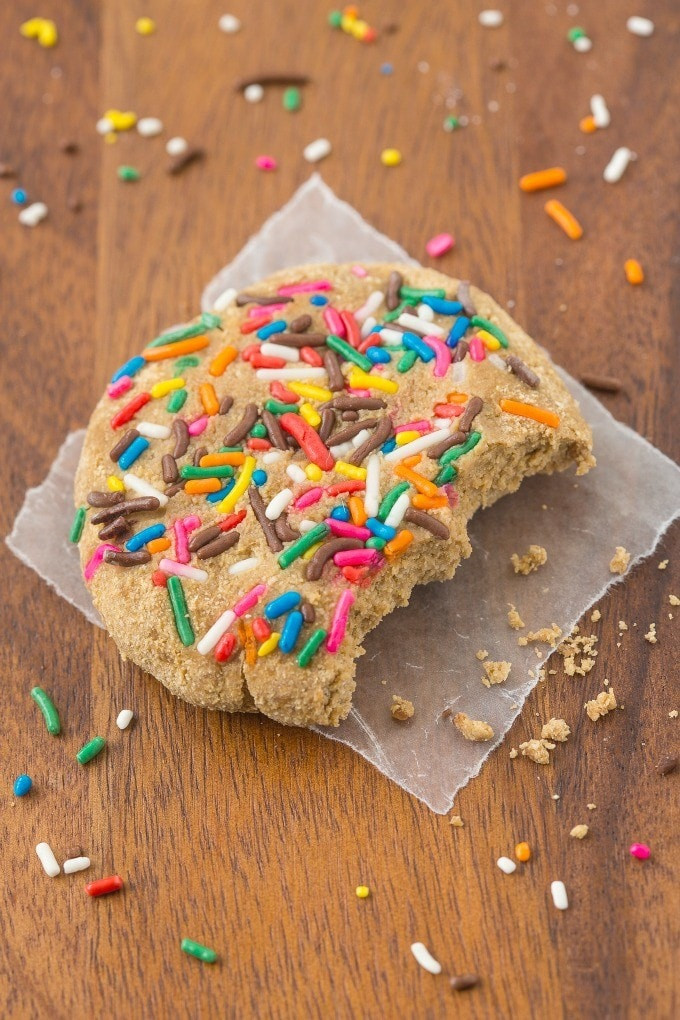 Healthy Birthday Cake Protein Cookies