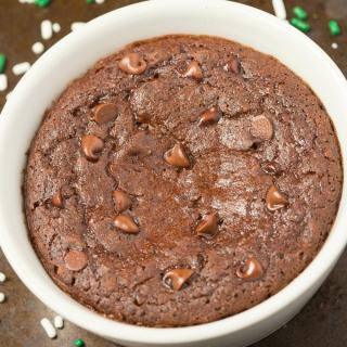 Healthy 1 Minute Mint Chocolate Brownie