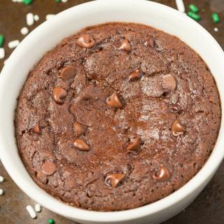 Healthy 1 Minute Mint Chocolate Brownie