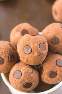 No Bake Chocolate Cake Batter Bites (Paleo, Vegan, Gluten Free)