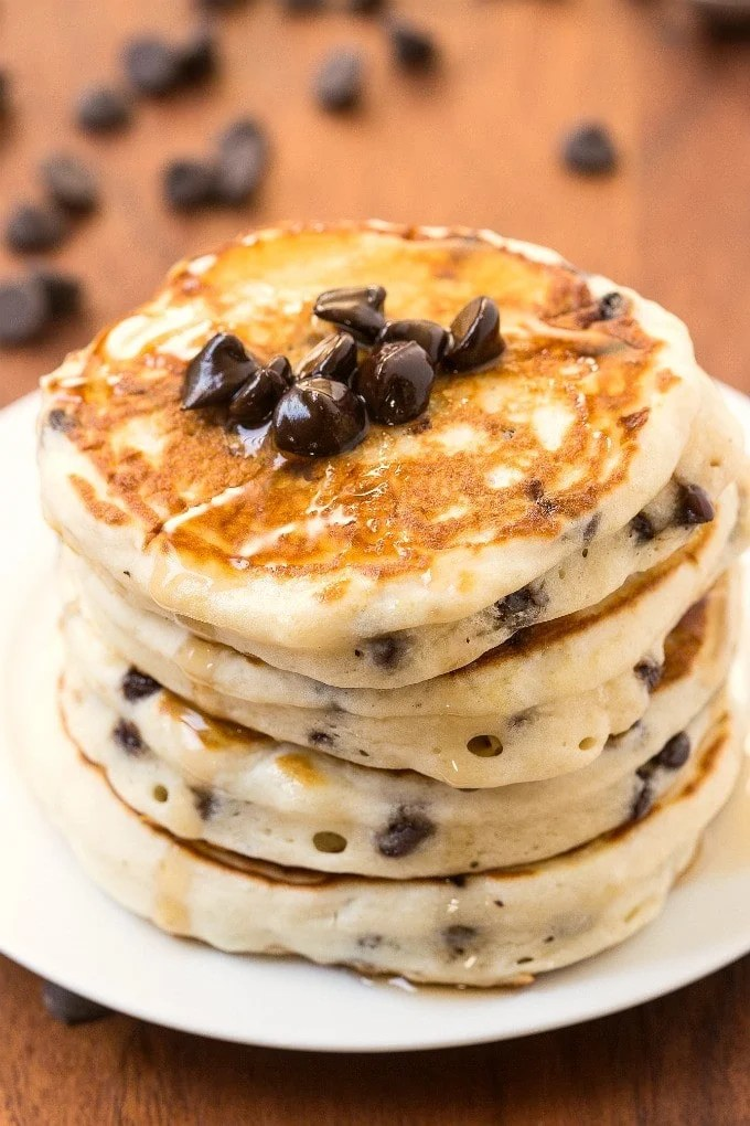 Whole Wheat Chocolate Chip Pancakes Calories