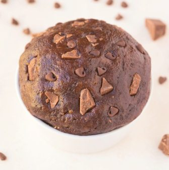 Healthy 3 Ingredient Chocolate Chunk Protein Cookie dough which is LOW carb, yet LOADED with chocolate chunks and chips! No baking required! {vegan, gluten free, paleo recipe}- thebigmansworld.com