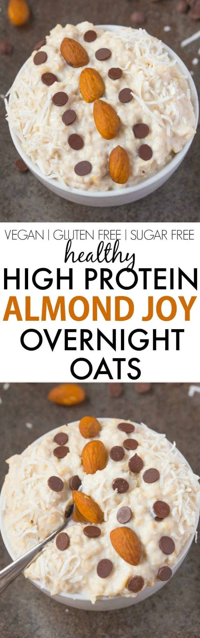 Learn how to make almond joy overnight oats with an option to make it keto too!