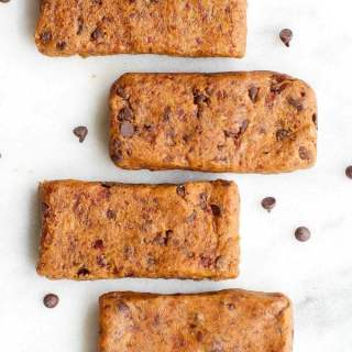 Healthy 3 Ingredient No Bake Cookie Dough Protein Bars
