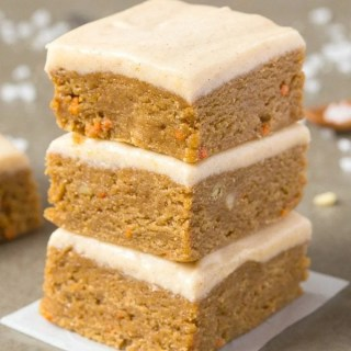 Healthy No Bake Carrot Cake Breakfast Bars