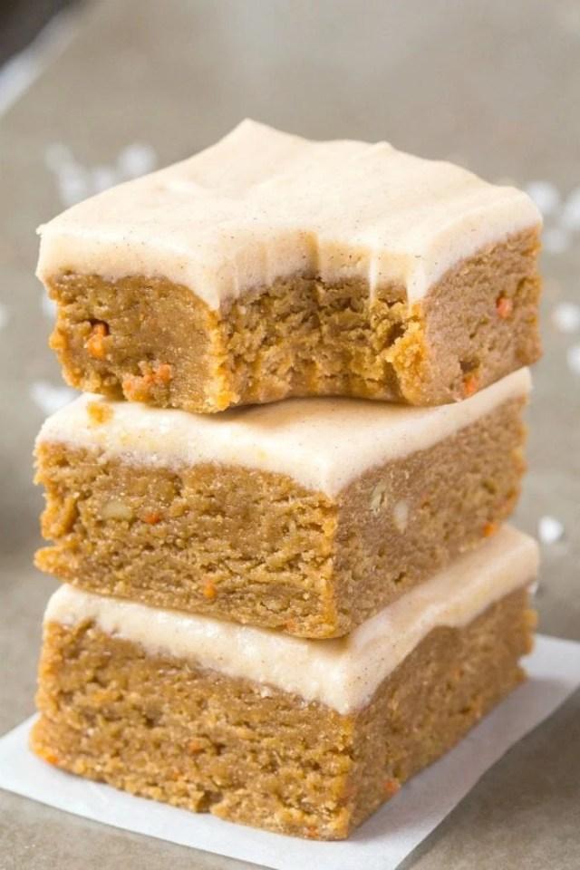 no bake carrot cake breakfast bars