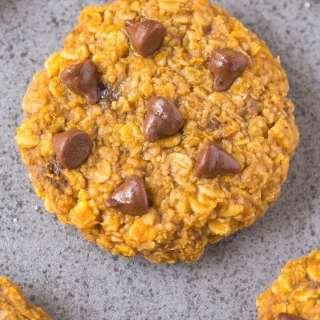 Healthy 3 Ingredient Nut Free Flourless Pumpkin Cookies