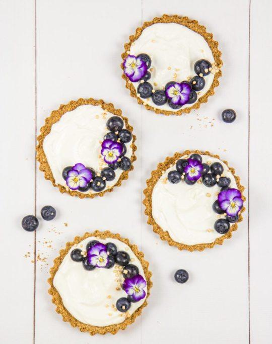 Blueberry Granola Tarts