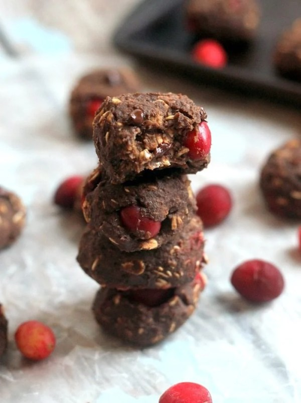 Cranberry Chocolate Protein Cookies