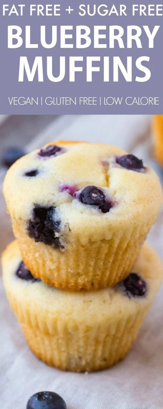 Fat Free Flourless Blueberry Muffins Sugar Free Vegan