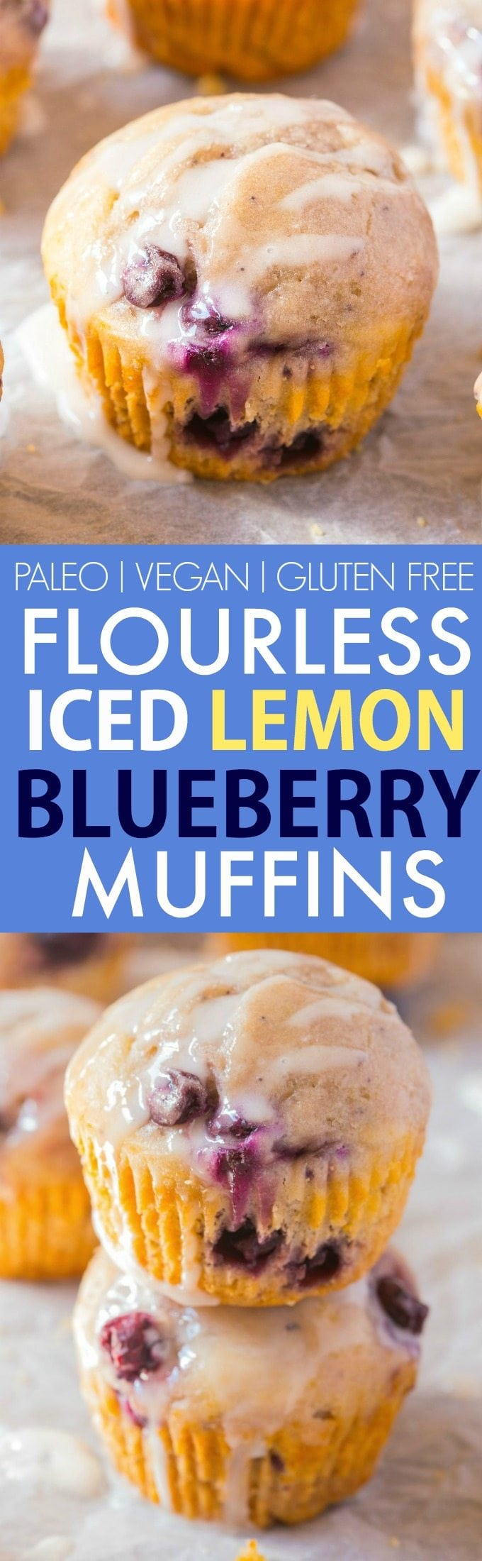 Healthy Flourless Lemon Blueberry Muffins (V, GF, Paleo)- Oil-free and sugar-free muffins which are so light, fluffy and filling, you'd never know! Freezer friendly, protein-packed and suitable for breakfast! {Vegan, gluten free, paleo recipe}- thebigmansworld.com