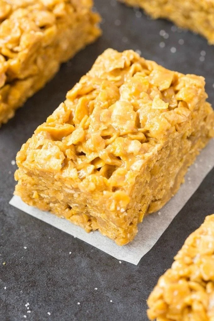 3 Ingredient Peanut Butter Corn Flake Crunch Bars (Vegan ...