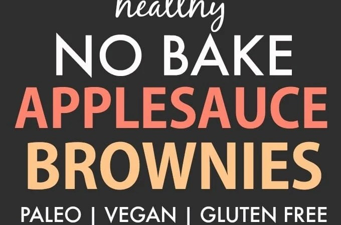 Healthy No Bake Applesauce Brownies (Paleo, Vegan, Gluten Free)- Thick and fudgy raw brownies which are super fudgy and loaded with chocolate! A guilt-free snack or healthy low carb dessert! {V, GF, P, SF recipe}- thebigmansworld.com #applesauce #rawbrownies
