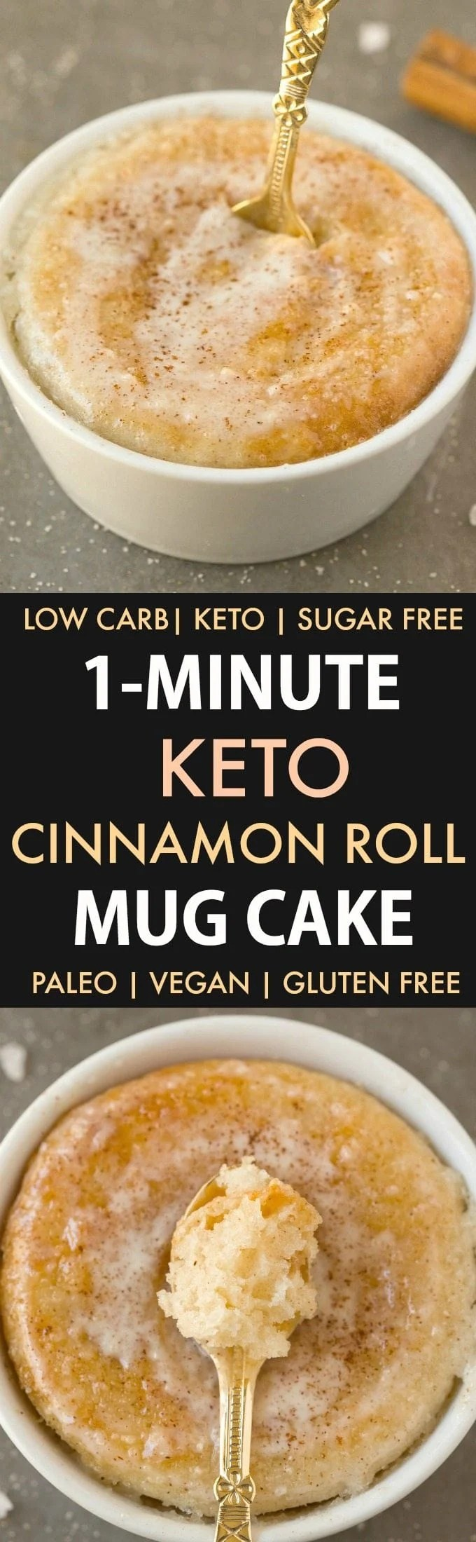 Vegan Cinnamon Roll Mug Cake
