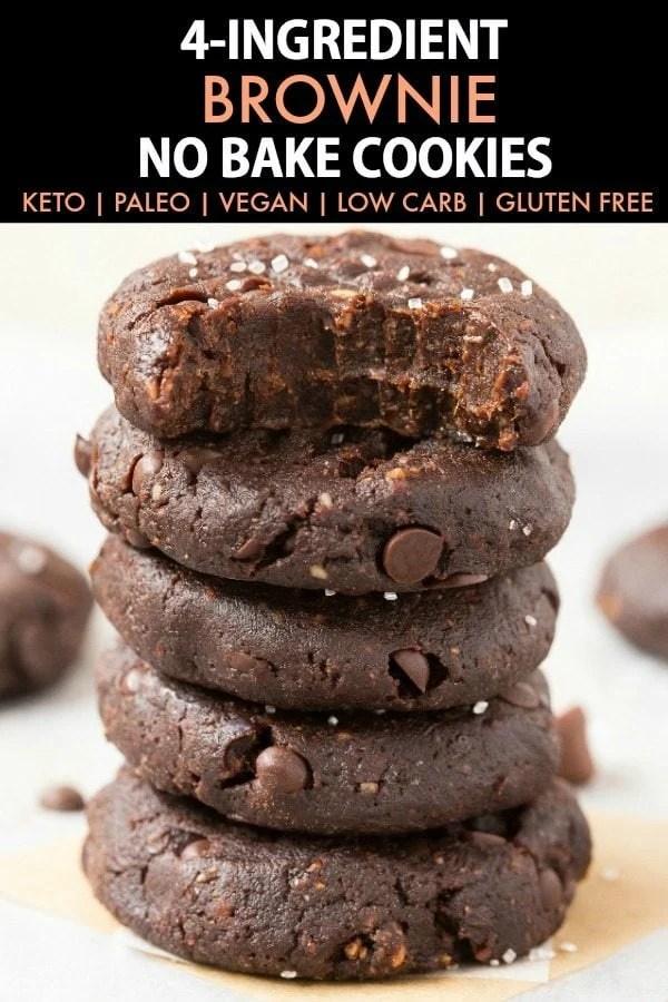 4-Ingredient No Bake Brownie Cookies