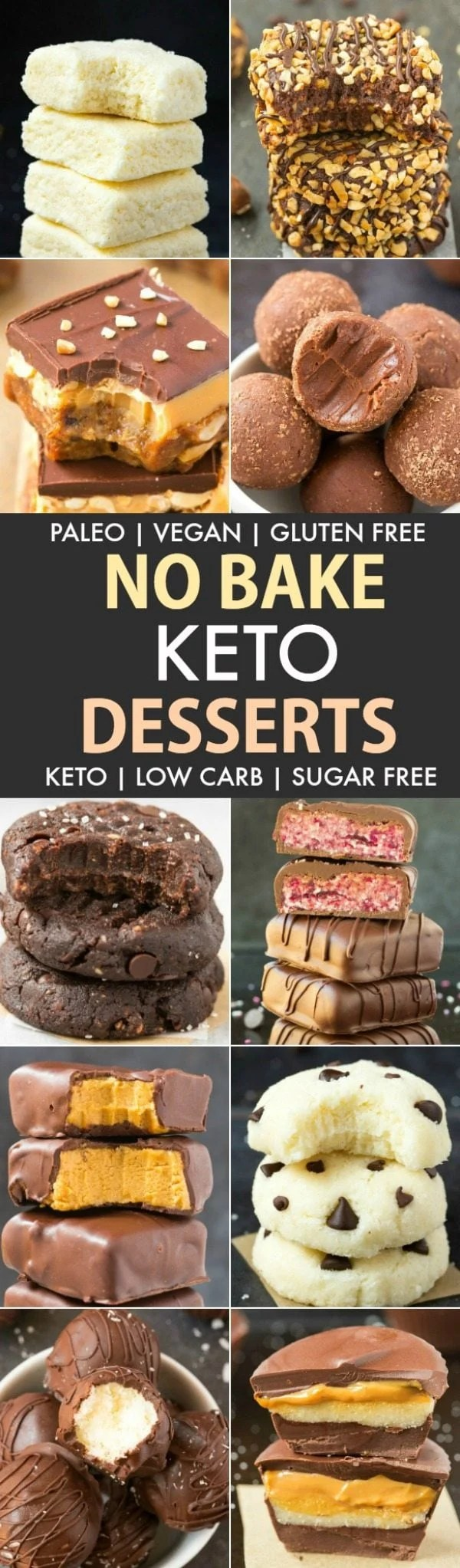 Easy Low Carb Keto No Bake Desserts