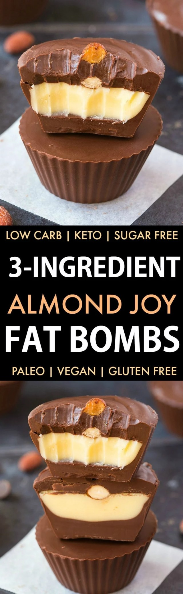 3-Ingredient Almond Joy Fat Bombs in a collage