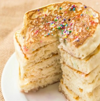 Thick keto pancakes made with almond flour