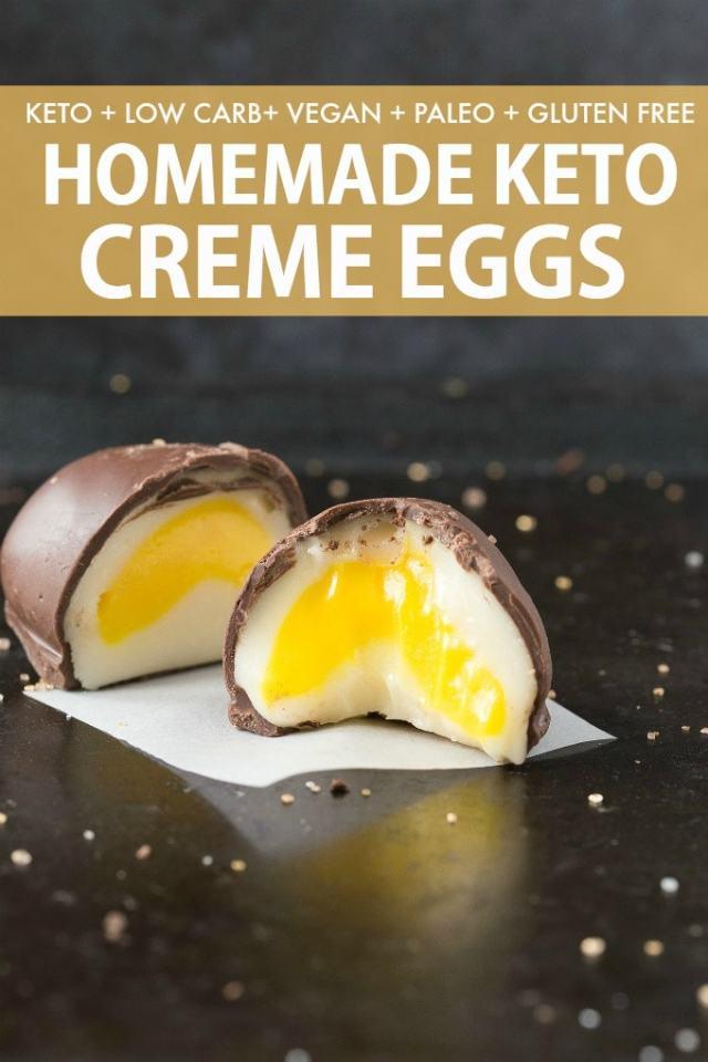 Homemade Keto and Vegan Cadbury Creme Eggs