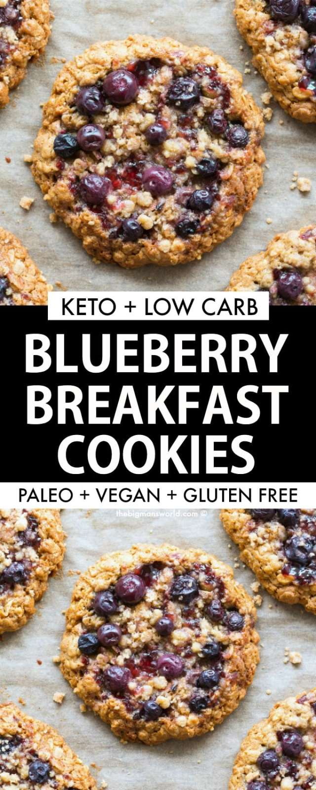 Blueberry Breakfast Cookies made eggless, vegan and comes with a keto and paleo option.