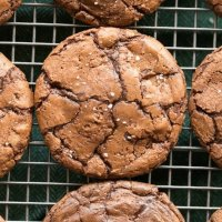 Flourless Brownie Cookies Recipe made without dairy and without sugar. Keto, Paleo, Gluten Free, Vegan