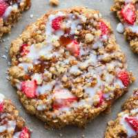 Easy strawberry crumble bar breakfast cookies recipe