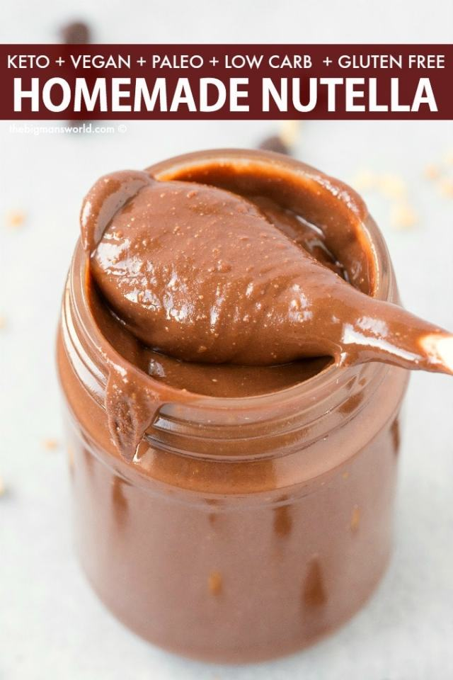 Homemade Healthy Nutella Recipe made with no sugar and no dairy