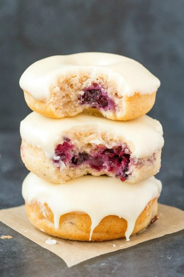 Easy baked vegan gluten free blueberry donuts recipe