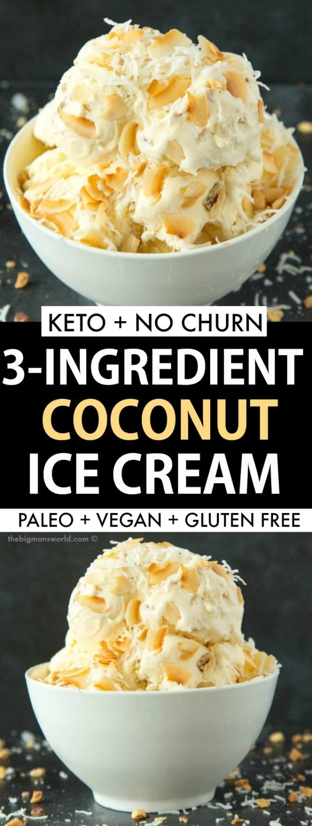 Easy keto low carb coconut no churn ice cream recipe