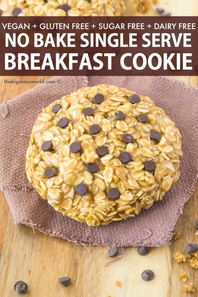 Single Serving Vegan Gluten Free Breakfast Cookie Recipe