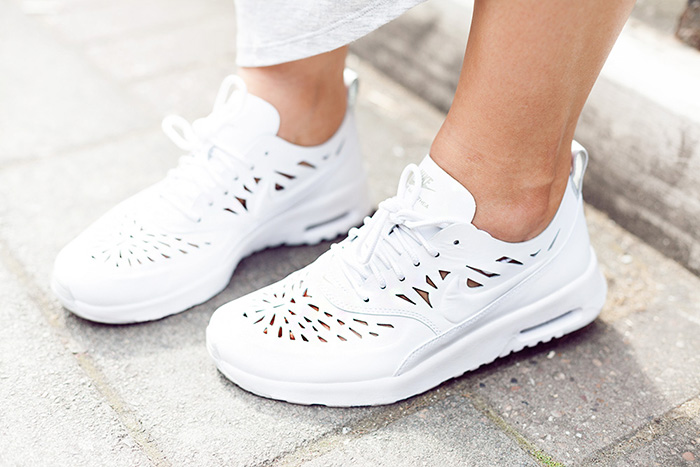 nike air thea white cut out