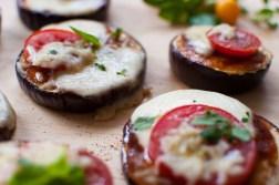 Low carb Pizza bites with eggplant Rezept Aubergine