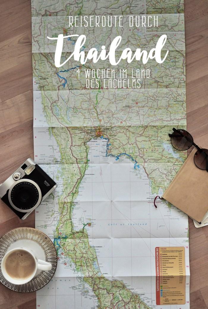Reiseroute Thailand