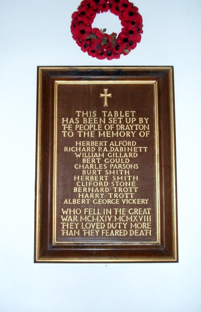Tablet to the Fellern In side St Catherine Drayton 2