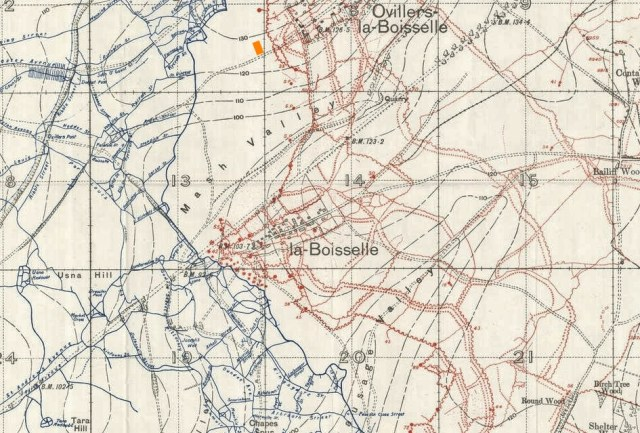 La Boisselle Trench Map