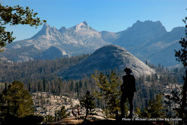 On the JMT overlooking the Cathedral Range, Yosemite.